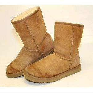 UGG classic short chestnut boot size 6